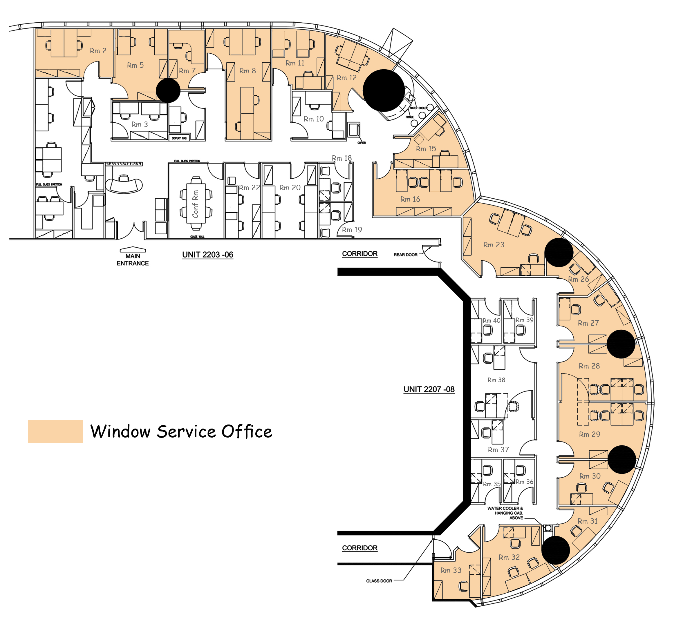 Office floor plan day business centre hong kong for Office floor plan online